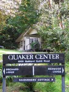 Quaker Center sign